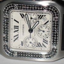 Cartier Santos 100 XL Chronograph Steel Diamonds
