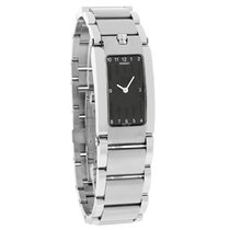 Movado Elliptica Ladies Black Dial Swiss Quartz Watch 0604706