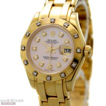 Rolex Pearlmanster 29 Lady Size Ref-80318 18k Yellow Gold...