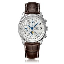 Longines Master Moon-Phase Chronograph Automatic Mens Watch...