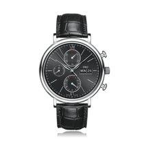 IWC Schaffhausen Portofino Chronograph Black Dial Strap Mens...