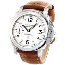 Panerai Luminor Marina Logo Acciaio White Dial Auto Men Watch...