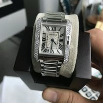 Cartier Tank Anglaise 18k White Gold Wt100008 Quartz - Watch Only