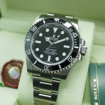 Rolex 114060 Black Submariner No Date Ceramic Bezel