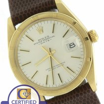 Rolex Vintage 1977 Date 1500 34mm Solid 14K Yellow Gold Silver