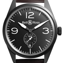 Bell & Ross BR 123 Vintage BRV 123 Original Black Carbon