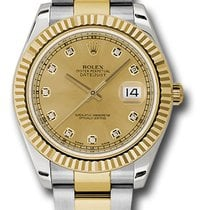 Rolex Datejust II 116333 chdo 41mm steel  18k yellow gold