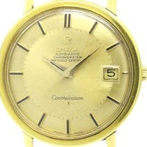 오메가 (Omega) Constellation Cal.561 Pie Pan Dial 18k Gold Watch...