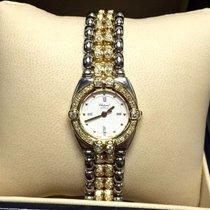ショパール (Chopard) Gstaad 18k Solid Gold & Ss Ladies Watch W/...