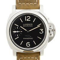 Panerai New  Luminor Stainless Steel Black Manual Wind PAM00546