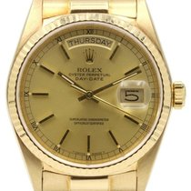 Rolex Day-Date President 18038 Champagne Index 36mm Yellow...