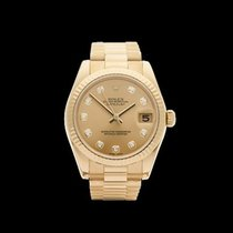 Rolex Datejust 18k Yellow Gold Ladies 178278 - W3879