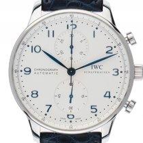 IWC Portugieser Chronograph Stahl Automatik Armband Leder 41mm...