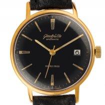 Glashütte Original Spezimatic Gelbgold Automatik Armband Leder...