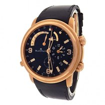 Blancpain Leman 2841-36B30-64B 18k Rose Gold Leather Automatic...