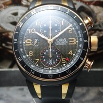 Oris 2010-2015 Oris - TT3 Chronograph GMT - Gold Plated / PVD...
