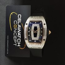 Richard Mille RM07-01 White Gold Med Set Diamond Black Lip [New]