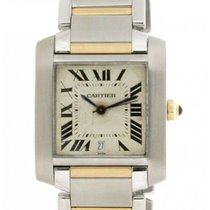 Cartier Tank Francaise W51005q4 Steel & 18kt Yellow Gold