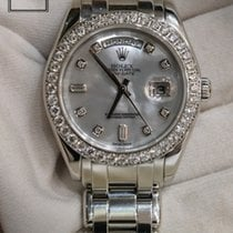 Rolex Day-Date 39mm Mother of Pearl in Platinum 18946