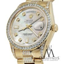 Rolex Yellow Gold Presidential Day Date Tone White Dial...