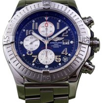 Breitling Super Avenger A13370 Men's 48mm Blue Arabic...