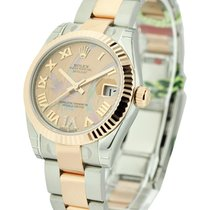 Rolex Unworn 178271 Mens 2-Tone Rose Gold Datejust with Fluted...