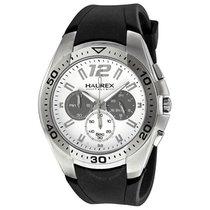 Haurex Italy Speed Chronograph White Dial Men's Watch