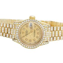 Rolex Ladies Rolex 18K Yellow Gold 26MM Datejust Presidential...