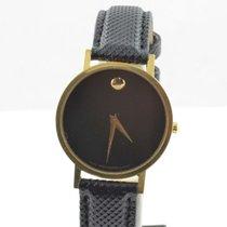 Movado Damen Uhr 32mm Stahl/stahl Museum Watch Rar Vergoldet