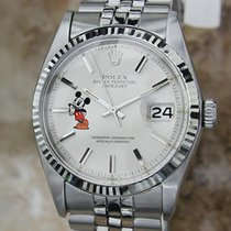 Rolex 1601 18k Gold Stainless St Swiss Mickey 1972 Serial...