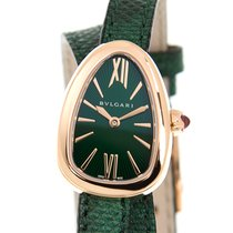 宝格丽 (Bulgari) Serpenti 18k Rose Gold Green Quartz 102726