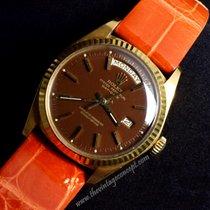 Rolex 1803 Day Date 18K YG Chocolate Brown Stella