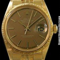 Rolex 1607 Unpolished 18k Datejust Golden Taupe Dial