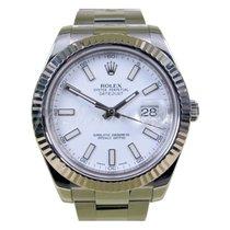 Rolex Datejust II 116334 White Index 41mm 18k White Gold...