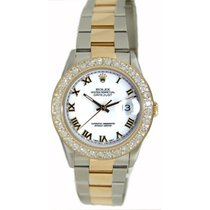 Rolex Men's Model 16233 Steel and Gold Oyster Band with...