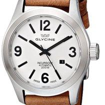 Glycine Incursore Automatic Steel Mens Strap Watch Silver Dial...