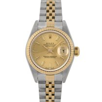 Rolex Datejust Ladies Bimetal, Champagne Dial, 79173 with Papers