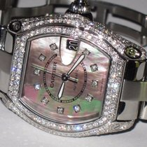 Cartier Roadster Large Stainless Steel Automatic Diamonds