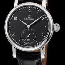Chronoswiss Sirius Manufacture Steel-Silver & Black Dial...