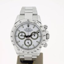 Rolex Daytona Cosmograph Steel 40mm WhiteDial (B&P2008) MINT
