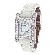Chopard H Diamond 13/6621 18k White Gold Leather Quartz...