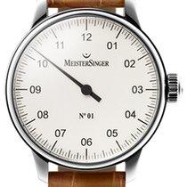 Meistersinger N 01 43mm Silver Dial - AM 3301