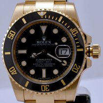Rolex Submariner Yellow Gold Black