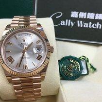 Ρολεξ (Rolex) Cally - Day-Date 40mm 228235 SUNDUST ROMAN 銀色羅馬面