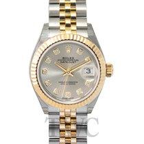 ロレックス (Rolex) Lady-Datejust 28 Silver Steel/18k Yellow Gold G...