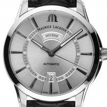 Maurice Lacroix Pontos Day Date Stahl Automatik Armband Leder...