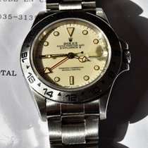Rolex rare Cream dial Explorer II original unpolished