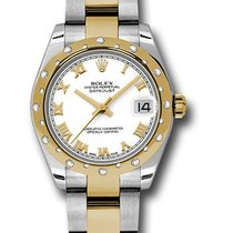 Rolex Unworn 178343 Datejust Two-Tone with Diamond Domed Bezel...