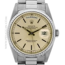 Rolex 18k white gold Day-Date