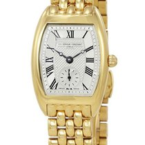 Frederique Constant Art Deco Gold Plated Womens Watch Silver...